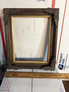 Vintage Victorian Walnut Shadow Box Picture Frame Fits 8 By 10 Painting