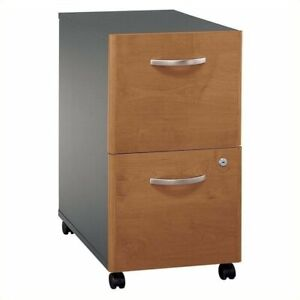 Bush Business Series C 2 Drawer Mobile File Cabinet In Natural Cherry