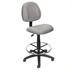 Boss Office Products Contoured Fabric Drafting Chair gray