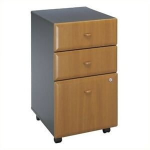 Bush Business Series A 3 Drawer Mobile File Cabinet In Natural Cherry Assem