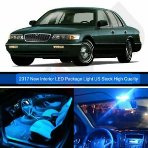 12x Interior Car Led Lights Package For Mercury Grand Marquis 2003 2011 Ice Blue