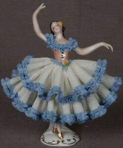 Amazing Detailed Porcelain Ballerina Figurine By Original Germany