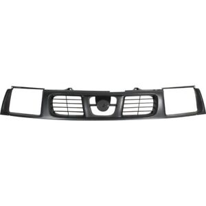 For 1998 1999 2000 Nissan Frontier Ft Front Grille Gray