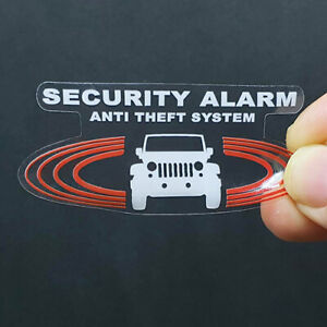 Car Alarm Decals For Jeep Inside Outside Glass Security System Window Stickers