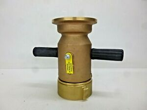 New Elkhart Brass Industrial Fire Hose Nozzle 2 1 2 In