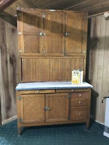 Sale Antique Oak Hoosier Cabinet With Flour Sifter