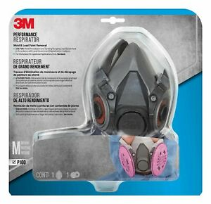 3m Mold And Lead Paint Removal Respirator Medium 6297pa1 a Half face