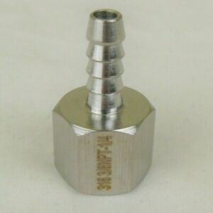 316 Stainless Steel 1 4 Hose Barb To 3 8 Female Npt Ss Pipe Fitting Coupler