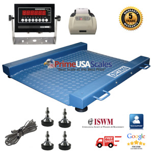 Fop 917 Drum Floor Scale With Printer Legal For Trade Ntep 2 000 Lb X 5 Lb