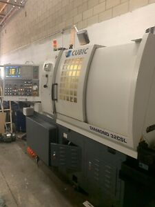 Cubic Diamond 32csl 7 Axis Cnc Swiss Lathe And Bar Loader video Inspection