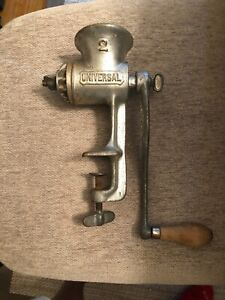 Very Nice 2 Universal Hand Crank Meat Grinder Food Chopper