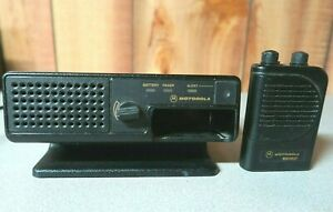Motorola Minitor Iii 3 Vhf Pager 151 158 9 Mhz With Nyn8348a Amplified Charger