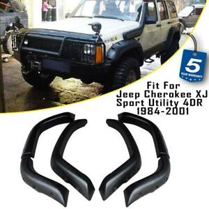 6x Set Pocket Fender Flares Fit For 1984 2001 Jeep Cherokee Xj Sport Utility 4dr