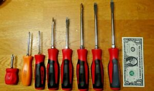 Snap On 8 Piece Screw Driver Lot