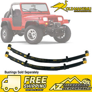 Old Man Emu Front 2 5 Lift Heavy Load Leaf Springs For 87 95 Jeep Wrangler Yj
