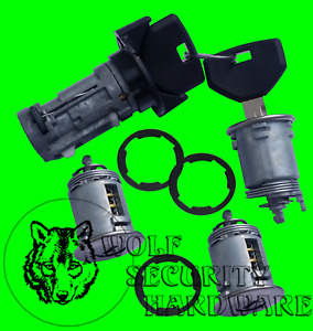 Jeep Wrangler 1991 1996 Ignition Door Rear Key Switch Lock Cylinder Set 2 Keys