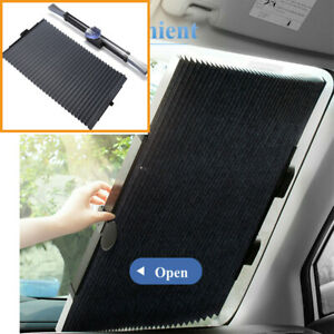 Car Retractable Curtain Uv Protection Front Windshield Sun Visor Accessories