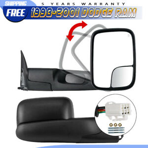 Left Right 1998 2001 For Dodge Ram 1500 2500 3500 Flipup Power Heated Tow Mirror