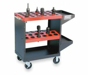 Huot 13940 Cnc Toolscoot Tool Cart For 40 Taper Tool Holders Cat40 Bt40 Nmtb