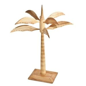 Earring Stand Palm Tree Wood Jewellery Display Jewelry