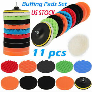 11pcs Set 3 7 Waxing Buffing Polishing Sponge Pads Car Polisher New Us Stock