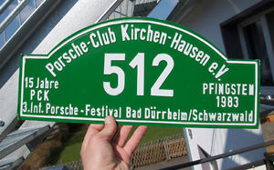 Vintage Car Club Sign Porsche Club Kirchenhausen Festival Bad D rrheim 1983