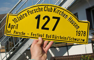 Vintage Car Club Sign Porsche Club Kirchenhausen Festival Bad D rrheim 1978