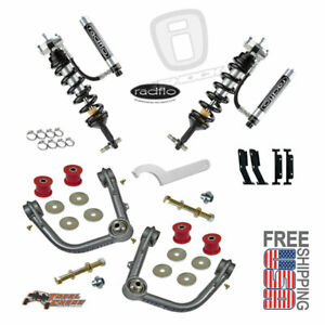 Radflo 2 5 Shocks W Res Total Chaos Mid Travel Kit Front Tacoma 2005