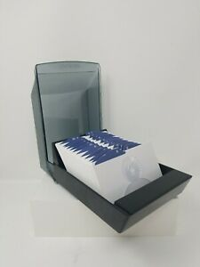 Rolodex Covered File Organizer 3 X 5 Blank Cards Alphabet Dividers S395
