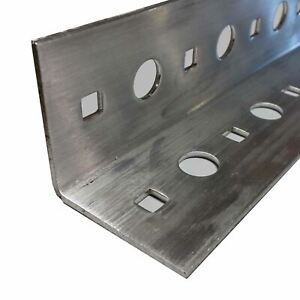 Perforated Aluminum Angle 2 X 2 X 100 X 24 Inches