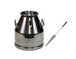 Stainless Steel Milk Can wine Pail tote Jug With Lid 20 Lt 5 25 Gal By Melasty
