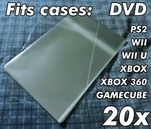20x Dvd Case standard Size Resealable Sleeves Opp Protective Plastic Sleeve