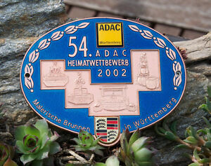 Nice Enamel German Automobile Car Badge Adac Wurttemberg Rally 2002 Porsche Vw