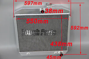 3 Rows Aluminum Radiator 1955 1957 Chevy Bel Air One fifty Radiator V8 Engine