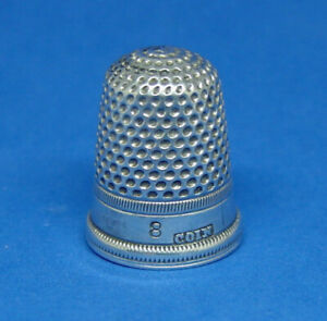 Nice Antique Early Coin Silver Thimble Size 8