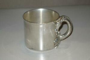 Vintage Reed Barton Silver Plate Giraffe Monkey Safari Baby Child Cup 421