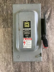 New Square D H362 F1 Series 60 Amp 600v Fused Safety Switch Disconnect