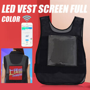 Led Screen Display Safety Vest For Movable Creative Advertising Full Color New