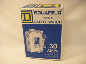 New Square D D211nrbcp Fusible Safety Switch Outdoor 30 Amps Rainproof S17