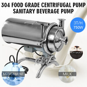 Food Grade Sanitary Beverage Centrifugal Pump 3t h 750w Stainless Steel New Top