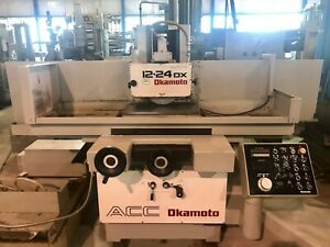 12 x24 Okamoto Hydraulic Surface Grinder Acc12 24dx 1996 Excellent
