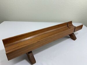 Vintage Mid Century Teak Bread Baguette Serving Tray Cutting Board Kalmar Tag