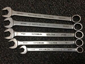 Matco Tools Metric Wrench Wcl19m2 Wcl18m2 Wcl17m2 Wcl16m2 Wcl12m2 5pc