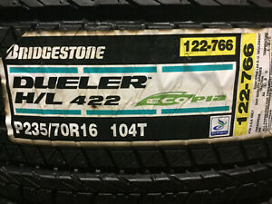 4 New 235 70 16 Bridgestone Dueler H l 422 Ecopia Tires