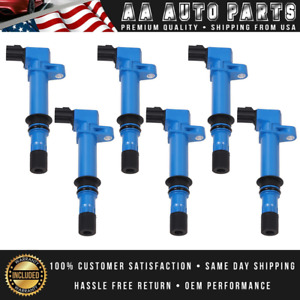 Pack Of 6 Blue Ignition Coil For 2002 08 Jeep Liberty 06 08 Commander V6 3 7l
