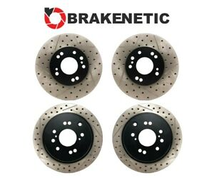 f r Brakenetic Premium Drill Slot Brake Rotor 30mm Z32 300zx Conversion 4 5lug