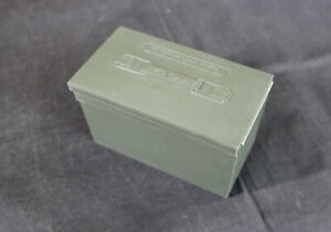 VINTAGE CCI ARMY GREEN PLASTIC AMMO CAN BOX - OMARK INDUSTRIES - MADE IN USA