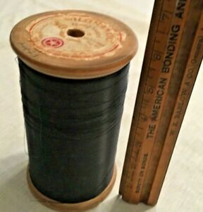 Vtg Antique Wooden Industrial Textile Thread Spool
