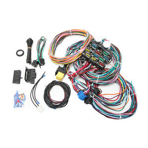 Universal 12 Circuit Wiring Harness Kit Gm Color Coded And Marked