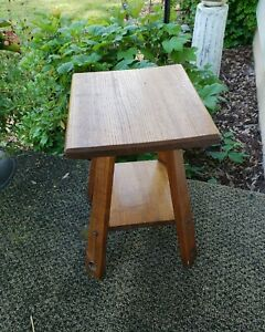 Vintage Arts Craft Mission Oak End Plant Stand 16 5